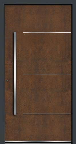 Porte exclusive aspect acier Corten